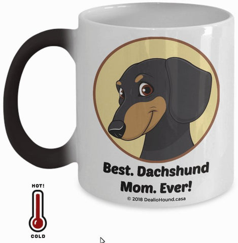 Best Dachshund Dad / Mom Ever Color-Changing Coffee Mug