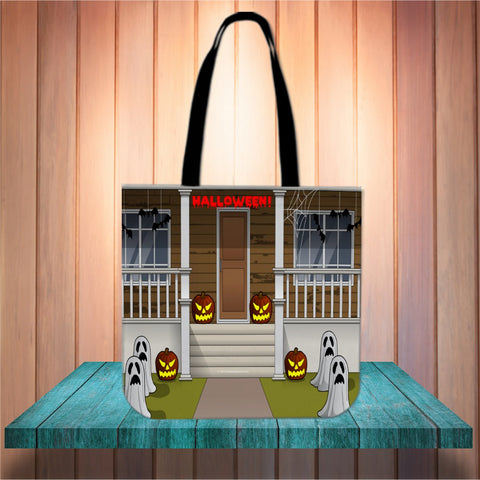 Dare You Enter Halloween Trick Or Treat Cloth Tote Goody Bag