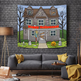 Dare You Enter - Halloween Wall Tapestry - FREE SHIPPING
