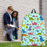 Dinosaurs Design #1 Backpack (Light Blue) - FREE SHIPPING