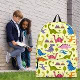 Dinosaurs Design #1 Backpack (Light Yellow) - FREE SHIPPING
