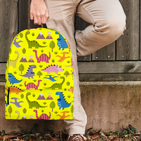 Dinosaurs Design #1 Backpack (Yellow)