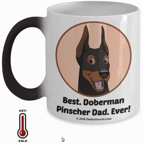 Best Doberman Pinscher Dad / Mom Ever Color-Changing Coffee Mug