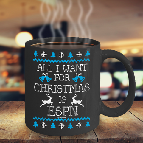 All I Want For Christmas Is ESPN Mug