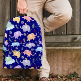 Wildlife Collection - Elephants (Dark Blue) Backpack - FREE SHIPPING