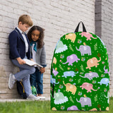 Wildlife Collection - Elephants (Green) Backpack - FREE SHIPPING