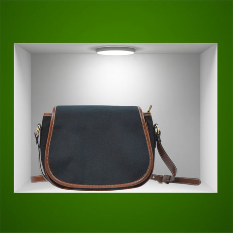 Vintage Black Original Saddle Bag - FREE SHIPPING
