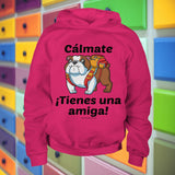 Cálmate - ¡Tienes Una Amiga! - English Bulldog Youth Hoodie