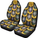 Fancy Pants Cat Car Seat Covers (Black With Gold Background) - FREE SHIPPING