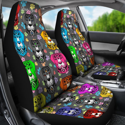 Fancy Pants Dog Car Seat Covers (Rainbow)  - FREE SHIPPING