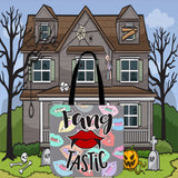 Fang Tastic Halloween Trick Or Treat Cloth Tote Goody Bag
