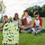 Farm Animals Design #1 Backpack (Light Green) - FREE SHIPPING