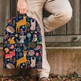 Wildlife Collection - Forest Animals (Dark Blue) Backpack - FREE SHIPPING