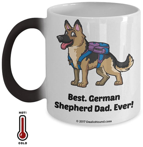 Best German Shepherd Dad / Mom Ever Color-Changing Coffee Mug