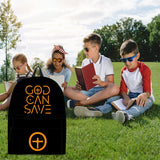 God Can Save Backpack (Black) - FREE SHIPPING