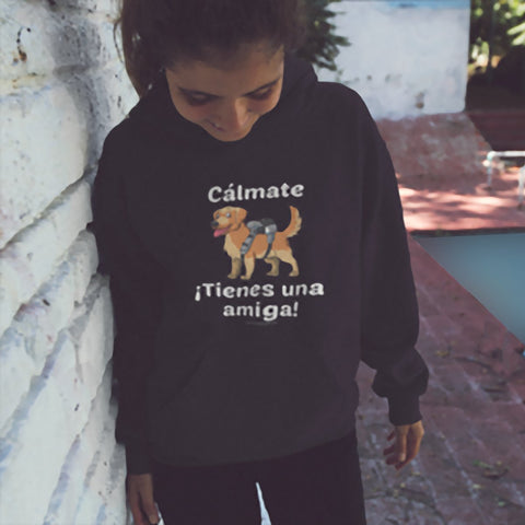 Cálmate - ¡Tienes Una Amiga! - Golden Retriever Youth Hoodie