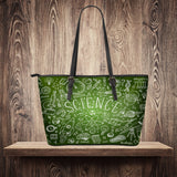 Science Chalkboard Large Leather Tote