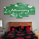 Astronomy Chalkboard Multi-Panel Wall Art Green - FREE SHIPPING