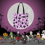 Halloween Icons Halloween Trick Or Treat Cloth Tote Goody Bag (Light Pink)