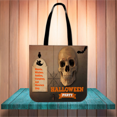 Halloween Party Design #2 Halloween Trick Or Treat Cloth Tote Goody Bag
