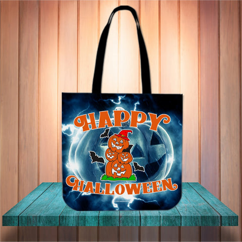 Happy Halloween Design #4 Halloween Trick Or Treat Cloth Tote Goody Bag