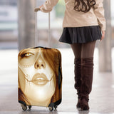 Calavera Fresh Look Design #3 Luggage Cover (Honey Tiger's Eye) - FREE SHIPPING