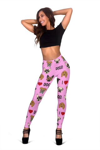 I Love Dogs Leggings (Richmond SPCA Light Pink) - FREE SHIPPING