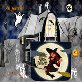 If The Broom Fits, Ride It Design #2 Halloween Trick Or Treat Cloth Tote Goody Bag