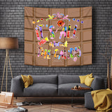 It's All About The Candy - Halloween Wall Tapestry - FREE SHIPPING