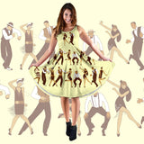 It's Charleston Time Party Midi Dress (Yellow) - FREE SHIPPING