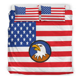 USA Flag Duvet Cover Set (Design #3) - FREE SHIPPING