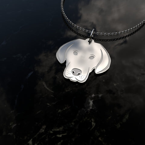 Labrador Solid Silver Necklace