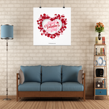 Floral Heart #2 Wall Poster
