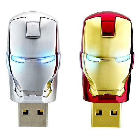 Avengers Iron Man LED USB Flash Drive - In 5 Sizes - 4, 8, 16, 32, & 64 GB