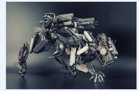 Cyborg Robot Dog Searching For Perps - Silk Poster Artwork - 4 Sizes Available