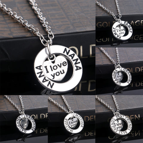 Family Gifts I Love You Statement Necklaces For Your Love Ones - 8 Choices