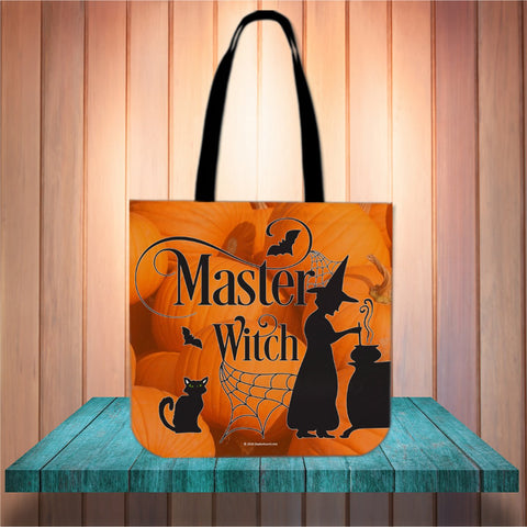 Master Witch Halloween Trick Or Treat Cloth Tote Goody Bag