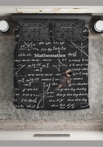 Mathematica Design #1 Duvet Cover Set (Black) - FREE SHIPPING