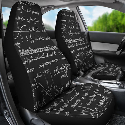 Mathematica Car Seat Covers Design #2 Black Chalkboard - FREE SHIPPING