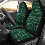 Mathematica Car Seat Covers Design #2 Green Chalkboard - FREE SHIPPING