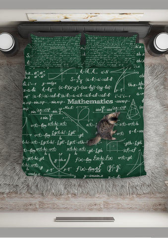 Mathematica Design #2 Duvet Cover Set (Green) - FREE SHIPPING