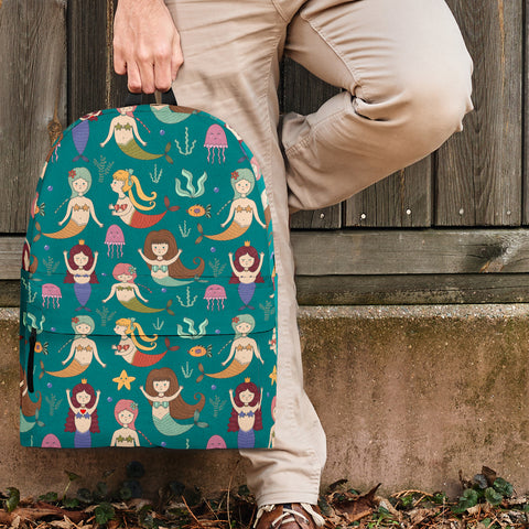 Sea Life Collection - Mermaids Backpack (Teal) - FREE SHIPPING