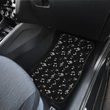 Musical Notes Design #1 (Black) Car Floor Mats - FREE SHIPPING
