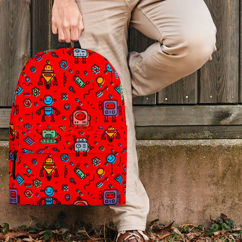 Mutant Robots Backpack (Red) - FREE SHIPPING