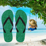 Nautical Design Flip-Flops (Dark Green)