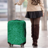 Nautical Design Luggage Cover (Dark Green) - FREE SHIPPING