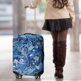 Nautical Design Luggage Cover (Sky Blue) - FREE SHIPPING