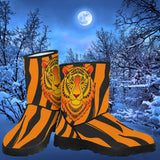 Animal Print Tiger Design Faux Fur Boots!