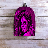 Calavera Fresh Look Design #2 Backpack (Pink Easy On The Eyes Rose) - FREE SHIPPING