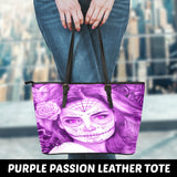 Calavera Fresh Look Design #1 Small Leather Tote Bag!